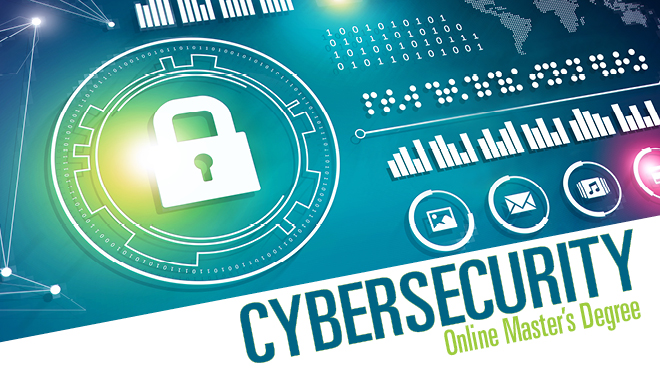 Cybersecurity Online Master's Degree flyer