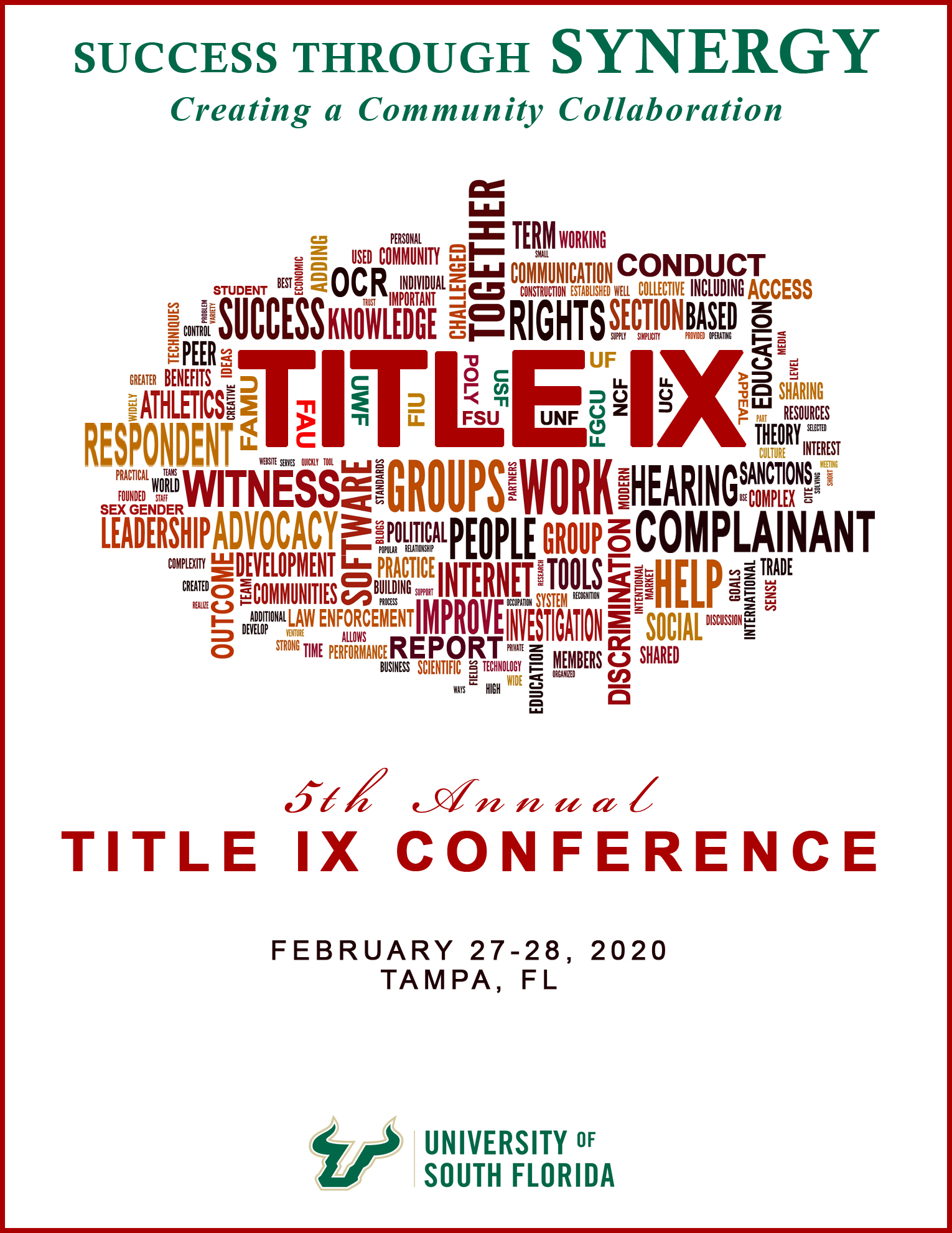 promotional image for title IX 2020 conference