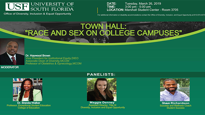 "Town Hall on: ""Race and Sex on Colleges Campuses"""
