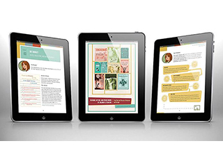 picture of 3 ebook readers showing ebook pages