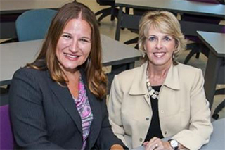 photo of Dr. Shannon Suldo (L) and Dr. Elizabeth Shaunessy-Dedrick (R)