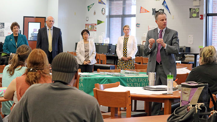 USF professors present to teachers at Kathleen High School
