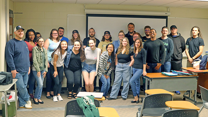 Class photo of Nick Bardo's global perspectives course