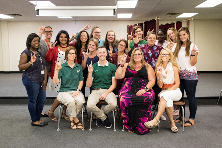 Group Photo of USF Teacher Candidates and Mentors at USF-Pepin Summer Institute 2018