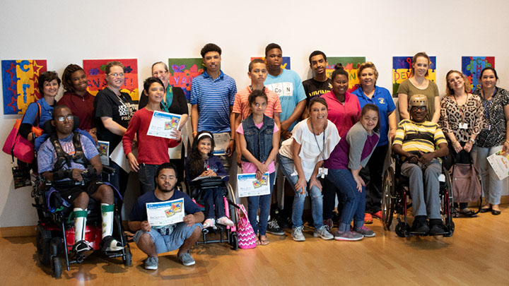 Jefferson High Schools students at the USF Contemporary Art Museum's exhibit A Wave of Change