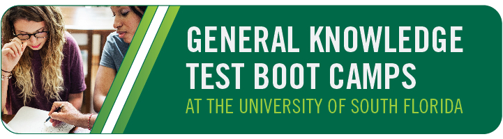 General Knowledge Test Boot Camps at the University of South Florida