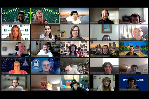 Screenshot of USF CyberCamp participants on MS Teams