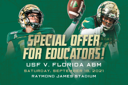 Extra Yard for Teachers with USF Football