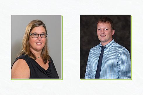Headshots of Lisa Lopez and Nathaniel von der Embse