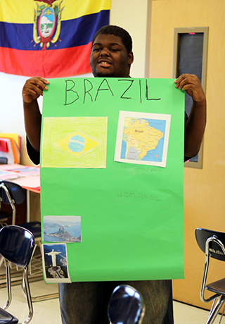 Pepin Academies Student Presents Poster on Brazil