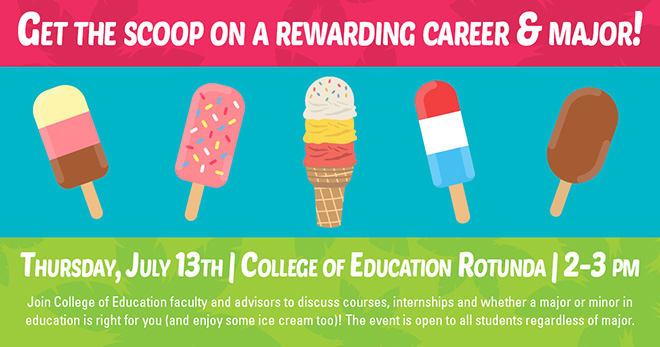 Get the Scoop on a Rewarding Career and Major - Summer First 50 Days Event