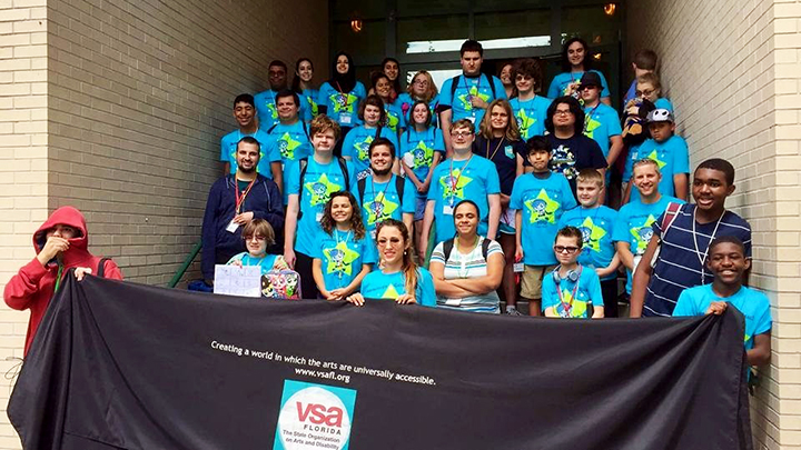 Group photo of VSA Florida Animation Camp Participants