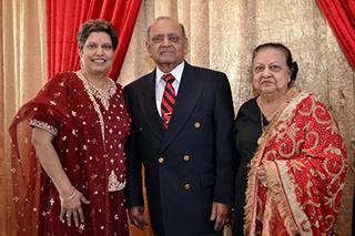 Mona Jain with family