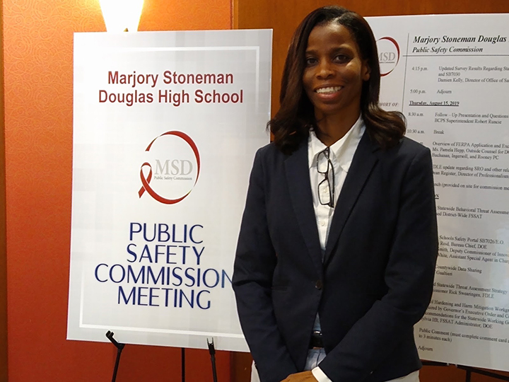 Ora Tanner at Public Safety Commission Meeting