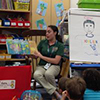 Student teaching with book