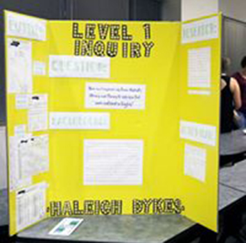 Students research presentation