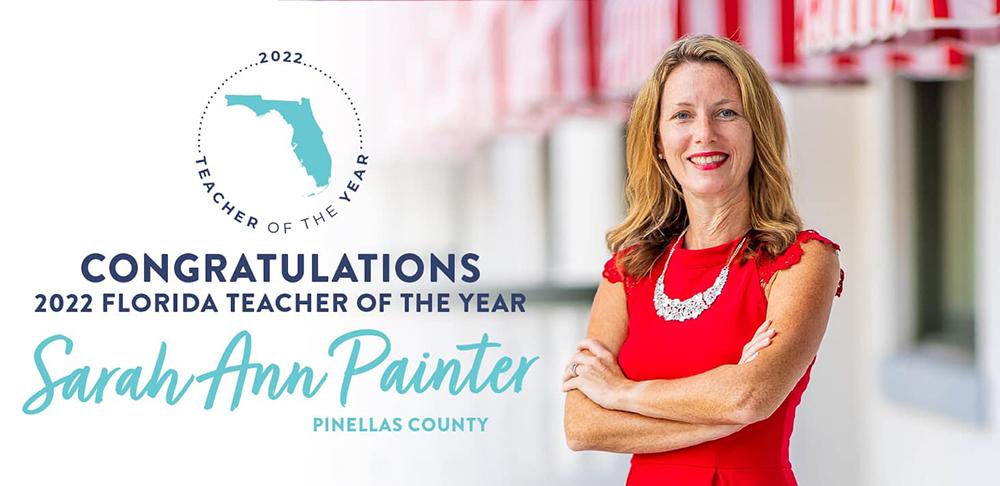 Sarah Ann Painter is the Florida 2022 Teacher of the Year