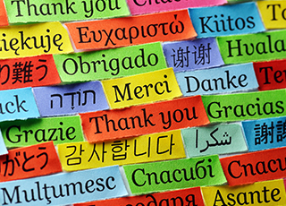 thank in various world languages