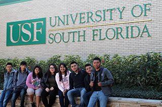 HEP students at USF