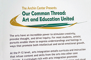 Anchin Art Show Poster: Our Common Thread: Art and Education United