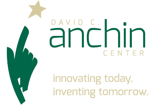 Logo of hand pointing to a star with text: David C. Anchin Center: innovating today. inventing tomorrow