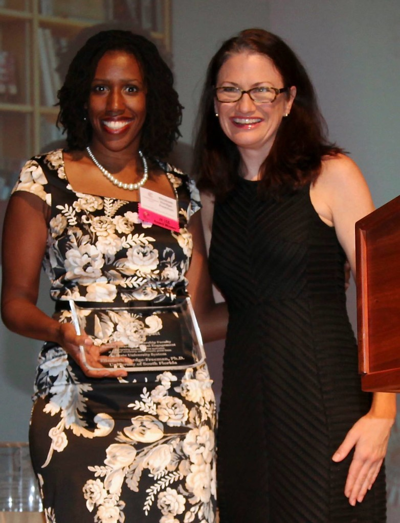 Elizabeth Hordge-Freeman receives the inaugural Special Award for Global Engagement