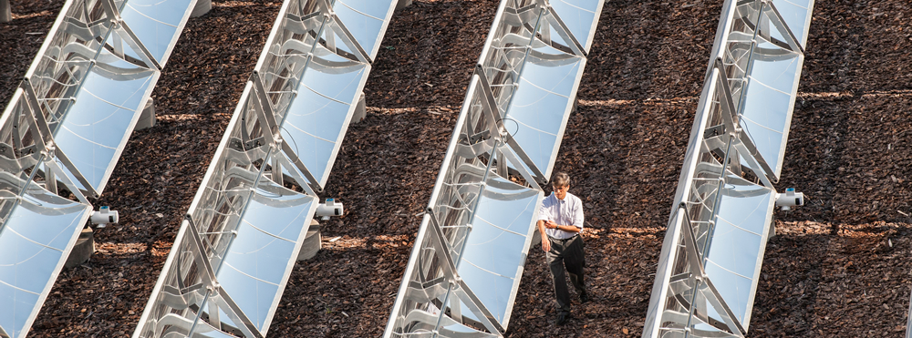 Working in the Solar Collector Array
