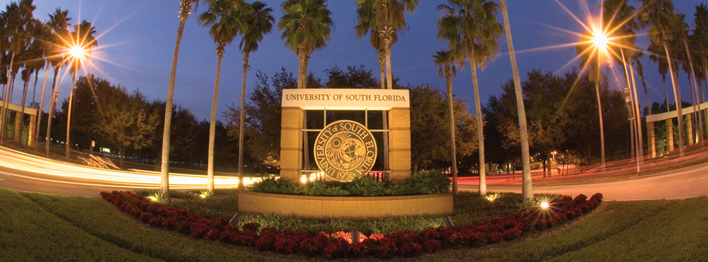 University of South Florida Entrance Sign