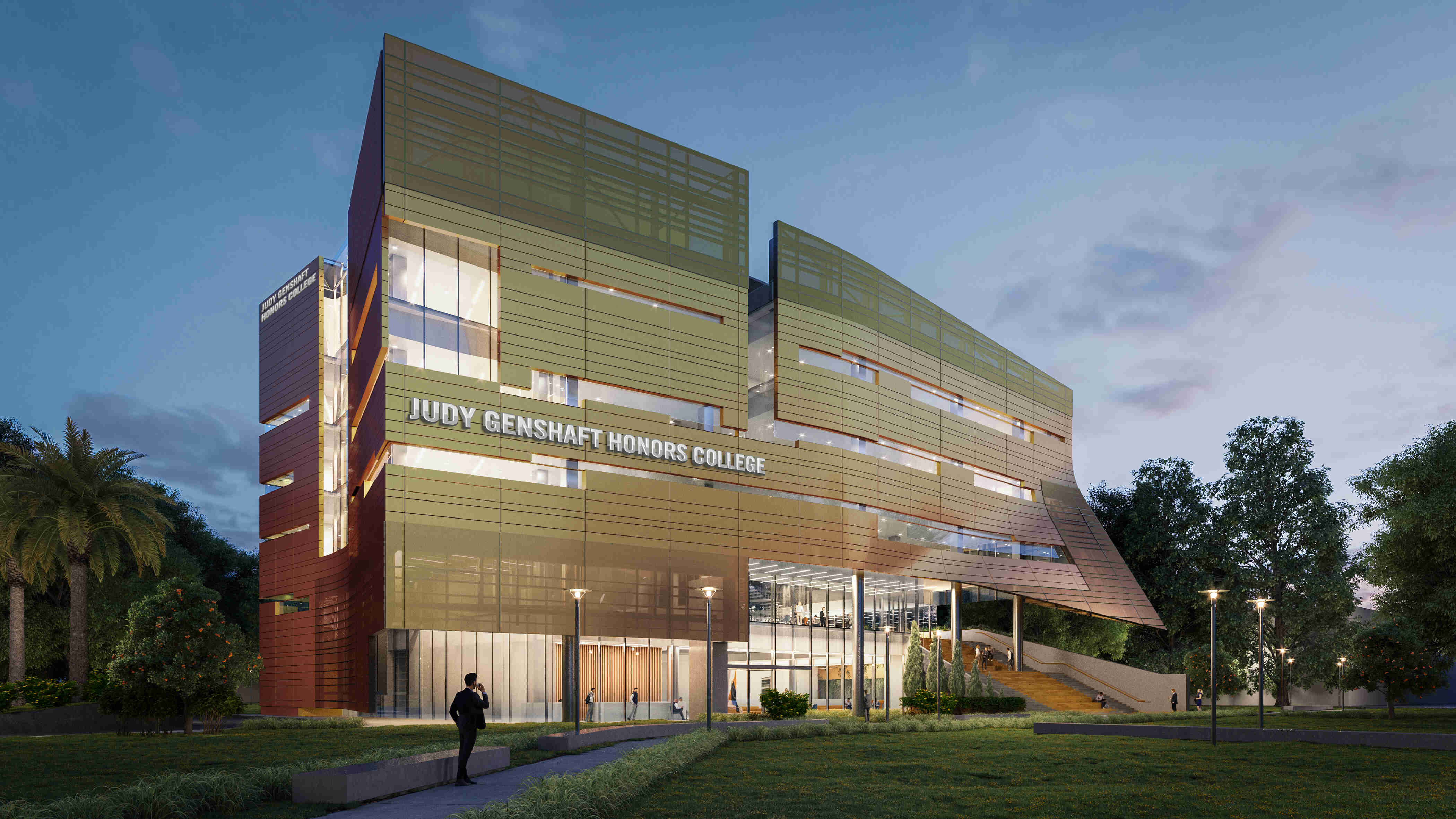 Construction begins on the new Judy Genshaft Honors College building.