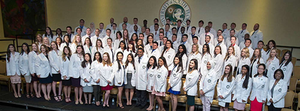 Group Image of Pharmacy White Coat Ceremony - Class of 2021. This class contains 101 students.