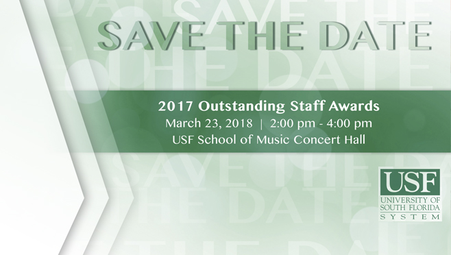 Outstanding Staff Awards Save the Date