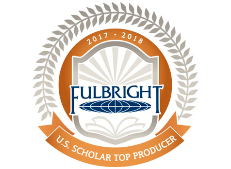 Logo for Fulbright Top Producers, 2017-18