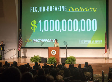 President Genshaft announces USF: Unstoppable campaign success