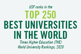 USF Ranks in the Top 250 Best Universities in the World. Times Higher Education(THE) World University Rankings, 2020