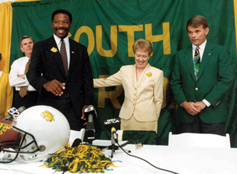 Betty Castor with Lee Roy Selmon and Paul Griffin