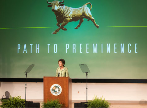President Genshaft announces USF's status as emerging preeminent