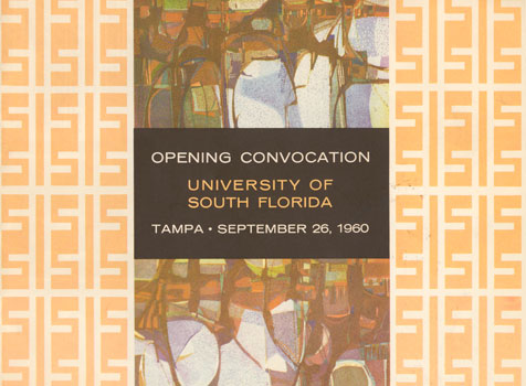 Program from first convocation ceremony