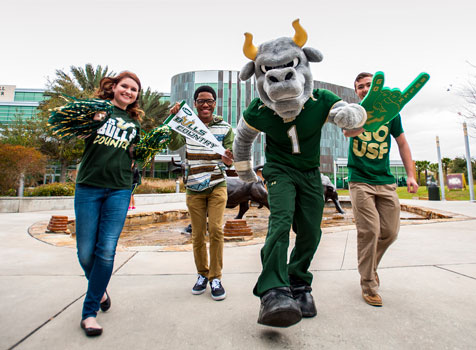 Rocky and students celebrate USF Week