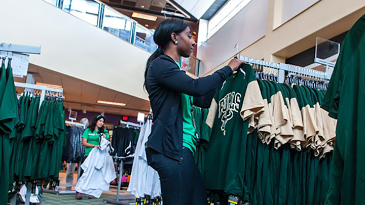 Interior of USF Bookstore in Tampa, Florida