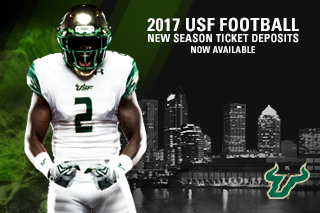 2017 USF Football New Season Ticket Deposits Now Available.
