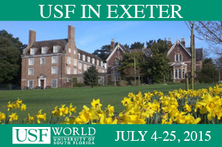 USF in Exeter. July 4 - 25, 2015