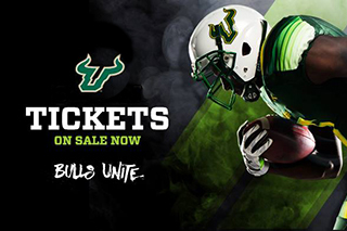 USF football tickets on sale now. Bulls Unite.