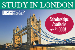 Study in London with USF World. Scholarships are Available.