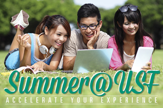 Summer at USF. Accelerate your Experience.