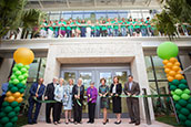 Ribbon-cutting ceremony for Lynn Pippenger Hall at USF St. Petersburg