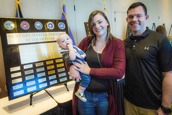 USF student veteran John Jacoby with wife Emilee and 5-month-old son Christopher.