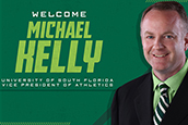 USF's new Vice President of Athletics, Michael Kelly