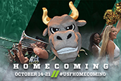 A USF Homecoming graphic
