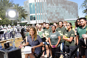 MSNBC's Katy Tur broadcasting live from USF Marshall Student Center in Tampa, Florida