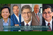 Image of the five USF Faculty Elected 2020 Members of the Academy of Science